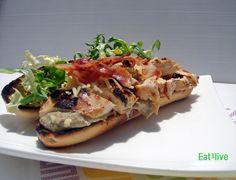 Eat & Live: Bocadillo de pollo con pesto de mayonesa
