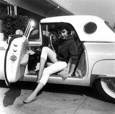 Annette Funicello in her 1957 Thunderbird by Railroad Jack, via Flickr