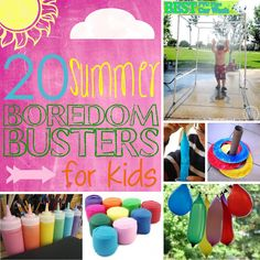 20 Summer Boredom Busters for Kids