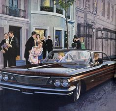 1960 Pontiac Bonneville Sports Coupe in Mahogany - 'Art Gallery' Exhibition opening, Manhatttan: Art Fitzpatrick and Van Kaufman