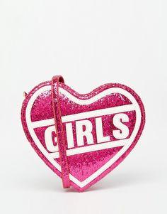 """Imagen 1 de Bolso bandolera con corazón rosa """"Girls"""" de Skinnydip"""