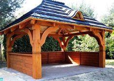 Altana Ogrodowa PREMIUM -  Altanka UNIKALNY WZÓR Gont Gazebo, Pergola, Shed, Outdoor Structures, Garden, Kiosk, Garten, Outdoor Pergola, Backyard Sheds