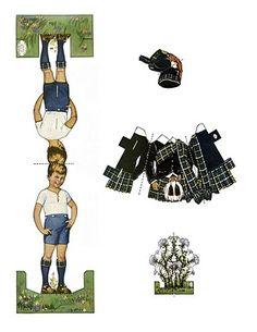 Vintage Kids Printable - Scottish Boy Paper Doll - The Graphics Fairy