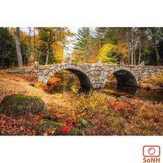 New Hampshire  ✨ Photographer  @robertallanclifford  #ScenesofNewEngland  Pic of the Day  11.16.15 ✨ C o n g r a t u l a t i o n s ✨ ----------------------------------------- #scenesofNH #oldcarrbridge #hillsboroughNH #stonebridge #getoutside #getoutsideNH #nhgram #igersnh #ignh #newhampshire  #explorenh #visitnh #whitemountai...