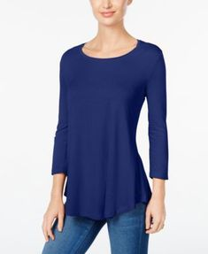 JM Collection Scoop-Neck Top, Only at Macy's $14.99 Be simply chic in JM Collection's scoop-neck top.