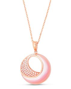 Venus+18K+Pink+Gold+&+Mother-of-Pearl+Pendant+Necklace+with+Diamonds+by+Frederic+Sage+at+Neiman+Marcus.