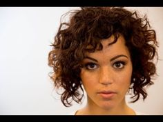 A-Line Bob Haircut On Curly Hair - On The Road Education - Paul Mitchell The School Jersey Shore #Hairbrainedmember , FreeSalonEducation.com #MillenniumSI