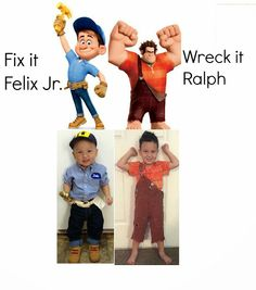 This link only takes you to the wreck it ralph DIY but has the link to Fix it Felix too