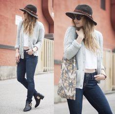 jeans, blusa blanca , estilo boho
