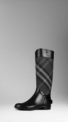 Burberry - BACK ZIP RAINBOOTS