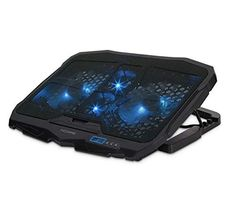 Powerful Cooling Pad For Laptop with Quad Blue LED x x From to Laptops Desktop Speakers, Laptop Cooling Pad, Passive Radiator, Computer Shop, Light Games, Headphone With Mic, Home Technology, Gaming Headset, Metal Mesh