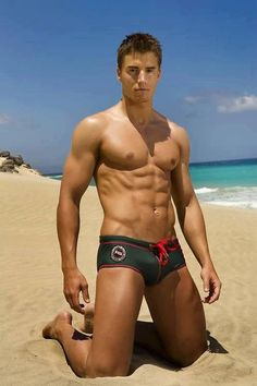 Men's swim trunks- except i don't think anyones really looking at the trunks...