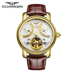 >> Click to Buy << Luxury Men Watch 2017 Famous Brand GUQNQIN Watch Automatic Mechanical Waterproof Luminous Leather Mens Wristwatches Male Clock #Affiliate