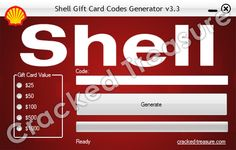 Free Shell Gift Card Codes Generator: http://cracked-treasure.com/generators/free-shell-gift-card-codes-generator-2