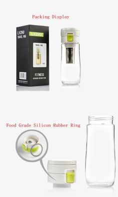 Plastic Water Bottle with Tea Infuser and Rope, 500ml, Ivory Color ad Dark Grey Color-inWater Bottles from Home & Garden on Aliexpress.com 11€48 Cheap Water Bottles, Bottle Cleaner, Rubber Rings, Infused Water Bottle, Dark Grey Color, Tea Infuser, Traveling, Home And Garden, Ivory
