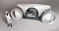 Extraterrestrial autonomous exploration vehicle.