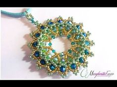 Tutorial con swarovski delica e seed beads. Pendente Eldor, My Crafts and DIY Projects