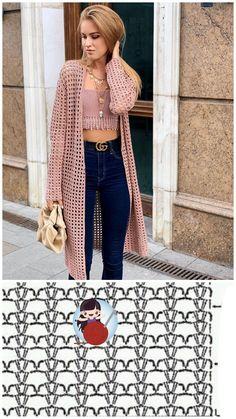 Gilet Crochet, Crochet Vest Pattern, Crochet Diy, Crochet Coat, Crochet Cardigan Pattern, Crochet Jacket, Crochet Stitches Patterns, Crochet Blouse, Crochet Shawl