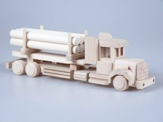 Wooden Toy Truck, Baby Toy, Wood Toy Truck, Plain Wood, Gift For Kids…
