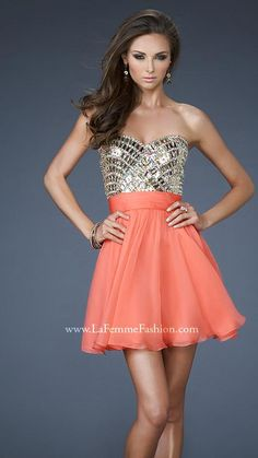 { 18445 | La Femme Fashion 2013 } Prom - Cocktail Dress - Sequins - Beads - Sparkle - Sweetheart