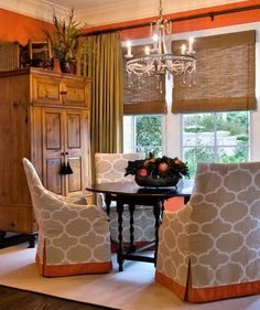 Beautiful                                                                                                                                                                                 More Roman Shades, Seating Areas, Roman Blinds