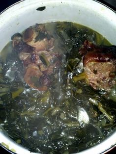 Smack ya Mama Collard greens with smoke meat ~ allcooks.com