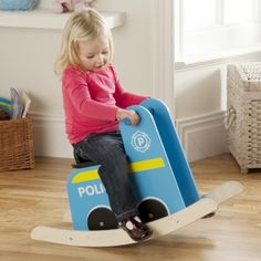 Police Car Rocker - available direct from KidsPlayKit with Free Next Day Delivery! Come take a look at our wide range of UK made wooden toys!