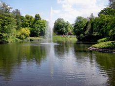 Wiesbaden, Germany, lived here for 4 years, would love to go back.  Use to paddle boat in this pond!