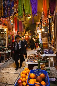 Israel, Jerusalem, Old City, covered market