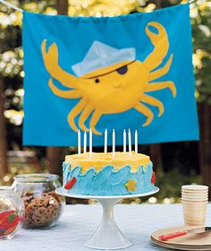 cute idea. insert swedish fish into a cake after it has cooled.
