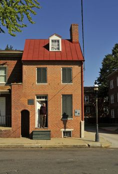 Location: 203 N. Amity St.  History: Edgar Allan Poe lived at this Amity Street rowhouse in the 1830s. It was designated a National Historic Landmark in 1972.