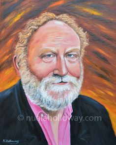 """Portrait of FrankMcGuinness"" by Nuala Holloway - Oil on Canvas www.nualaholloway.com #FrankMcGuinness #IrishWriter #IrishArtist #NualaHolloway"