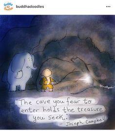 Joseph Campbell • courage • faith • Buddah doodle