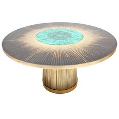 Malachite Table by Dessauvages | From a unique collection of antique and modern dining room tables at https://www.1stdibs.com/furniture/tables/dining-room-tables/