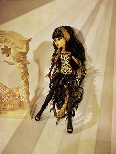 Monster High Doll Elementals Golden Cyberpunk by boutiqueimagine