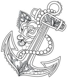 Aquarius - Anchor | Urban Threads: Unique and Awesome Embroidery Designs