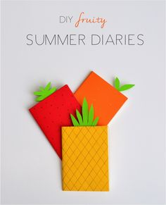 fruit crafts for kids: make fruit out of a notebook or sketchbook. Perfect for back-to-school, too!