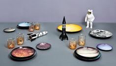 Cosmic Diner and Meterorite Glasses by Diesel Living with Seletti