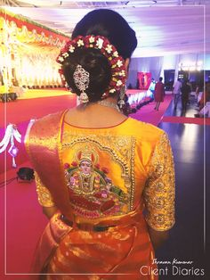 A beautiful embroidery work for a client on the occasion  wedding of her brother special thanks to Vijetha ravi   shravankummar  fashion  ethnicwear  embroidery  clientdiaries  godess  varalakshmivratham  beautiful  gold 26 August 2016