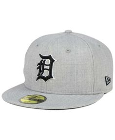 b72ee2a7f21 New Era Detroit Tigers Heather Black White 59FIFTY Fitted Cap - Gray 7