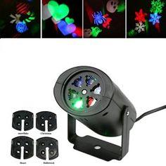 LED Décorations Lumières 4 Motifs Projector Lumière étanche IP44 Pour Noël/Party/Anniversaire/Fête…