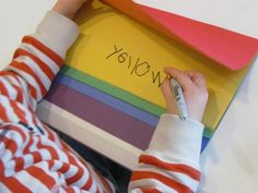 make a color book using colored paper