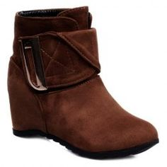 Retro Metal and Suede Design Women's Short Boots