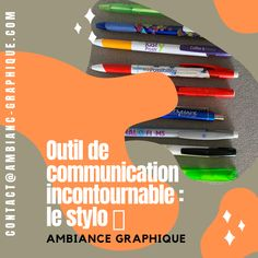 OUTIL DE COMMUNICATION : LE STYLO 🖊 🇫🇷 #communication #communicationvisuelle #print #stylos #crayon #ecriture #clients #logo #marquage #serigraphie #tampographie #gravure #laser #cadeau #objetspublicitaires @ambiance_graphique Manhattan Project, Logos, To Tell, In The Heights, Gravure Laser, Beautiful Pictures, Told You So, Occasion, Crayons