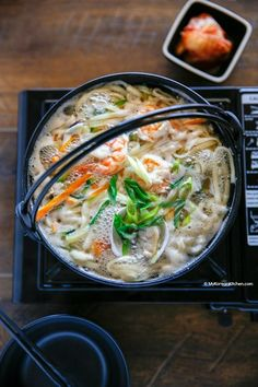 Kalguksu (Korean knife cut noodle soup) recipe. It's a light, refreshing and ultra comforting noodle soup. Perfect for cold, rainy, or wintery weather!