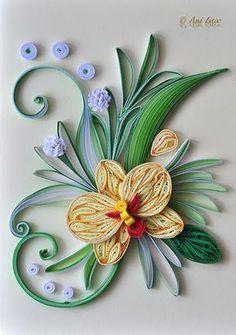 Printre hobby-uri: quilling, kusudama, origami, bijuterii handmade...: Quilling - Orchids