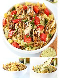 Healthy Creamy Pesto Pasta Recipes | Delicious Healthy Dinner Recipes for Two