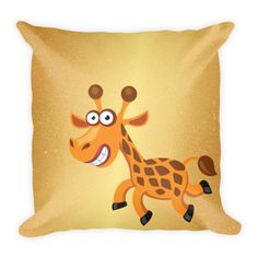 Gold Metallic Giraffe - Double Sided Throw Pillow -  Get this double Sided Print Pillow Now! Specs: DOUBLE SIDED PRINT! - Get Two Pillows in One for the SAME PRICE! Individually Handmade in California Velvety soft, comfy and cushiony texture Filled with a nice puffy stuffing Durable Pillow case is machine washable Concealed Zipper Pillow insert included (handwash only) Resilient polyester filling retains shape #heart #art #pets #pillow #pillows #homedecor #gift #cute #DogzPrinted #giraff