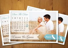 Save The Date Magnet or Card by MidwestDesign on Etsy, $5.00