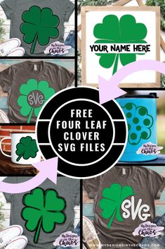 a11ee8d3d These free four leaf clover SVG designs are so cute and great to use with a